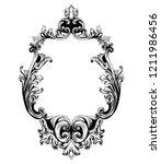 vintage mirror frame vector.... | Shutterstock .eps vector #1211986456