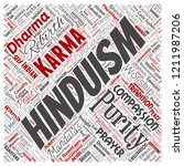 vector conceptual hinduism ... | Shutterstock .eps vector #1211987206
