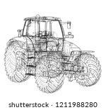 farm tractor concept. vector...   Shutterstock .eps vector #1211988280