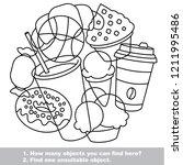 sweet food elements set ... | Shutterstock .eps vector #1211995486
