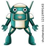 cartoon robot character... | Shutterstock . vector #1211999143