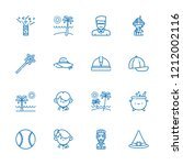 collection of 16 hat outline... | Shutterstock .eps vector #1212002116