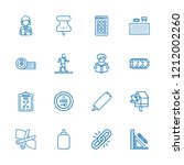 collection of 16 clip outline... | Shutterstock .eps vector #1212002260