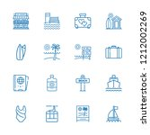 collection of 16 vacation... | Shutterstock .eps vector #1212002269