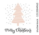 christmas card with calligraphy ... | Shutterstock .eps vector #1212004963