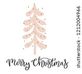christmas card with calligraphy ... | Shutterstock .eps vector #1212004966