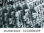 digital matrix from metal... | Shutterstock . vector #1212006109