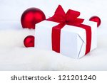 photo of a box the tied up red... | Shutterstock . vector #121201240