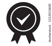 approved certified icon.... | Shutterstock .eps vector #1212013600