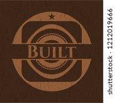 built realistic wood emblem | Shutterstock .eps vector #1212019666