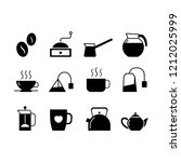 coffee and tea simple flat... | Shutterstock .eps vector #1212025999