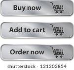 metallic web elements buttons... | Shutterstock . vector #121202854