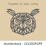 template bird for laser cutting.... | Shutterstock .eps vector #1212029299