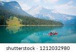 12 august 2018  emerald lake ... | Shutterstock . vector #1212032980