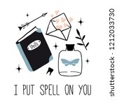 i put spell on you. vector... | Shutterstock .eps vector #1212033730
