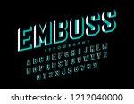 modern embossed font design ...   Shutterstock .eps vector #1212040000