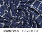 scottish tartan pattern. blue... | Shutterstock . vector #1212041719