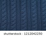 handmade blue knitting wool... | Shutterstock . vector #1212042250