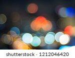 bokeh of lights on background. | Shutterstock . vector #1212046420