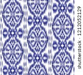 ikat ogee background   ethnic... | Shutterstock .eps vector #1212052129