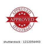 red rubber stamp  grunge effect ... | Shutterstock .eps vector #1212056443