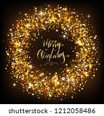 christmas background with... | Shutterstock .eps vector #1212058486
