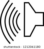 speaker vector icon on white... | Shutterstock .eps vector #1212061180
