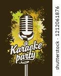 vector music poster or banner... | Shutterstock .eps vector #1212061876