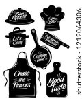 cooking stuff with tagline... | Shutterstock .eps vector #1212064306