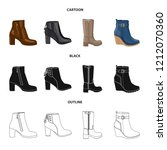 vector illustration of footwear ... | Shutterstock .eps vector #1212070360