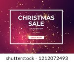 christmas sale design with gold ... | Shutterstock .eps vector #1212072493