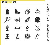 exercise icons set with sport...