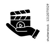 movie release glyph icon. video ... | Shutterstock .eps vector #1212075529