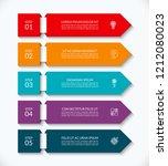 business infographic arrow...   Shutterstock .eps vector #1212080023