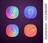 plastic surgery app icons set....