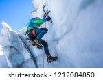 Epic Shot Of An Ice Climber...