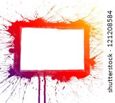 abstract colorful splash square ... | Shutterstock . vector #121208584