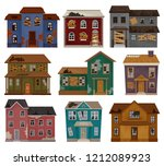 Flat Vector Set Of Abandoned...