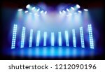 light effects on the stage... | Shutterstock .eps vector #1212090196