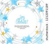 abstract circle vector... | Shutterstock .eps vector #1212091189