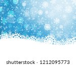 falling snow. christmas and new ... | Shutterstock .eps vector #1212095773