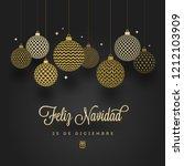 feliz navidad   christmas... | Shutterstock .eps vector #1212103909