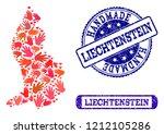handmade craft collage of... | Shutterstock .eps vector #1212105286