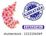 handmade craft combination of...   Shutterstock .eps vector #1212106369