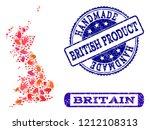 handmade craft composition of...   Shutterstock .eps vector #1212108313