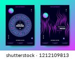 electronic music posters.... | Shutterstock .eps vector #1212109813