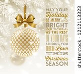 christmas greeting card  ... | Shutterstock .eps vector #1212113323