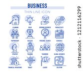 business icon set line icon set | Shutterstock .eps vector #1212116299