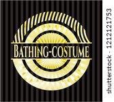 bathing costume gold shiny...   Shutterstock .eps vector #1212121753