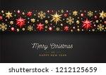 christmas greeting illustration ... | Shutterstock .eps vector #1212125659
